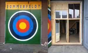 Exterior and interior shot of my Studio in Lichtenberg Berlin