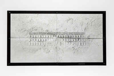 Image of one of Chan Sook Choi's artworks appearing once the flyer is unfolded.
